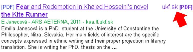 Google scholar result with free full text access.