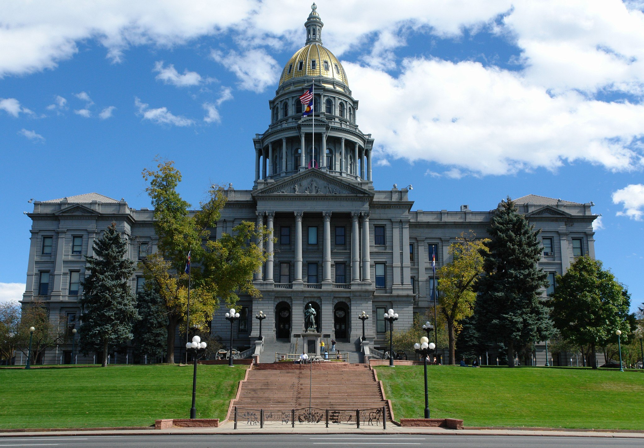 The Colorado State Capitol building on a sunny day