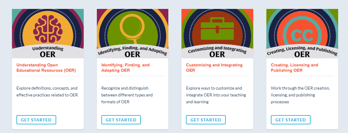 icons for the suny oer community courses
