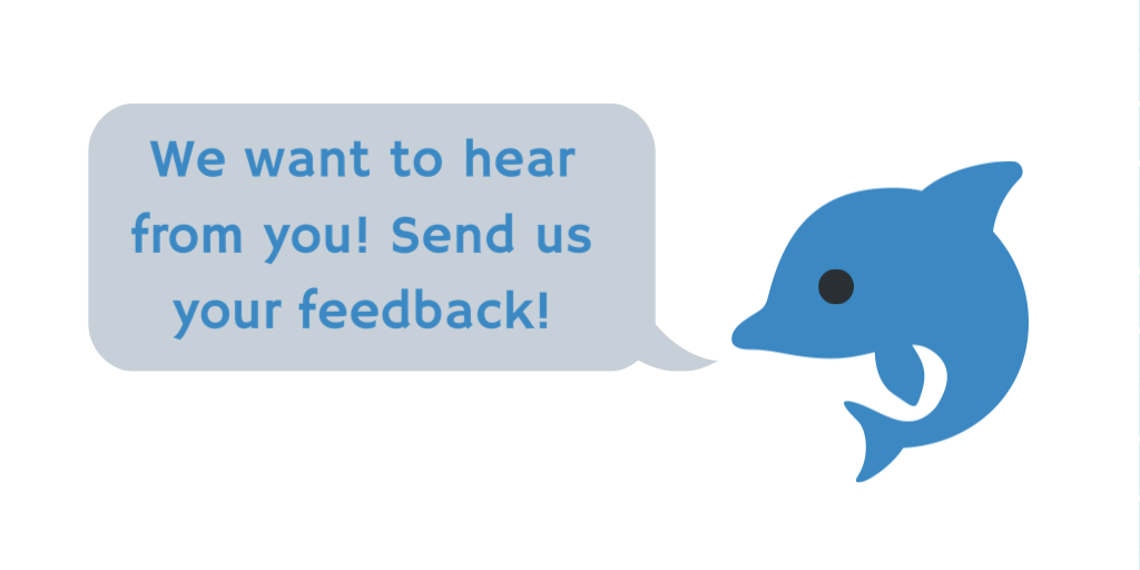 Link to Library feedback form. We want to hear from you!