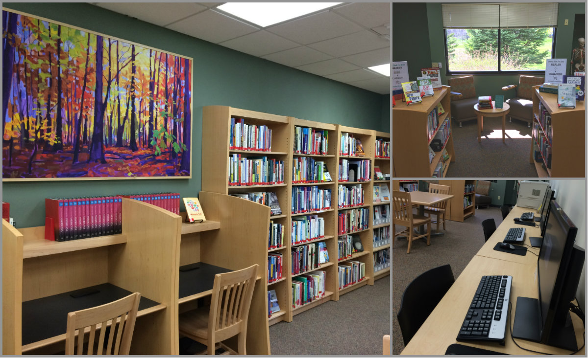 Photo collage of portage library