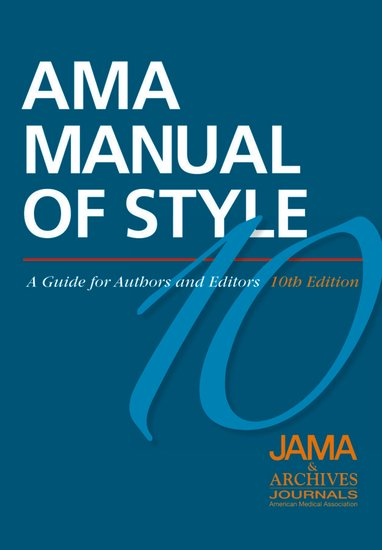AMA Manual of Style Book Cover