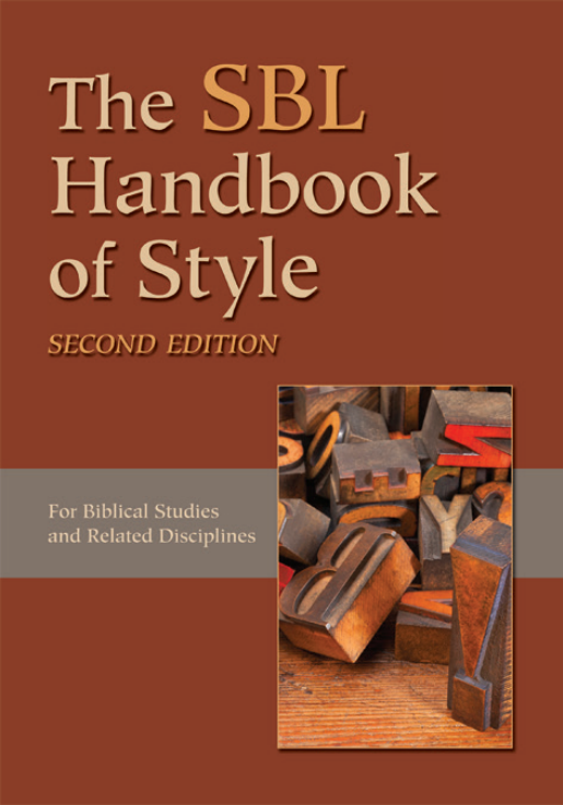 SBL Handbook Book Cover