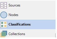 To open your Source Classifications click on Classifications in Navigation View