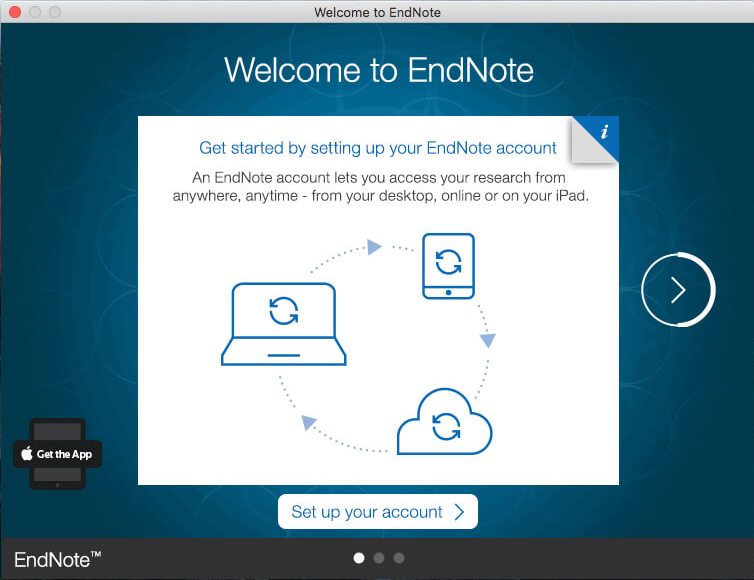 Welcome to EndNote splash screen