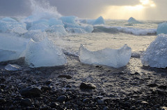 picture of ocean and large chunks of ice