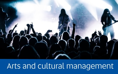 Navigate to the Arts and cultural management page within this guide