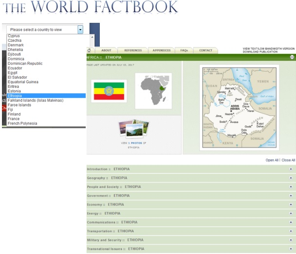 CIA World factbook search example