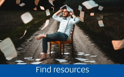 Navigate to the Finding resources page in this guide
