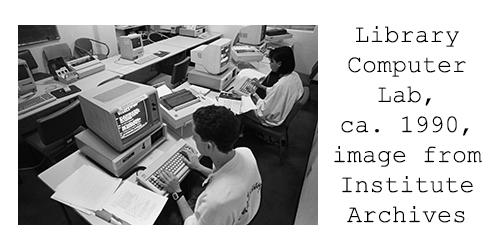 CalArts Library Computer Lab, 1990