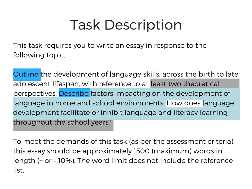 Task description