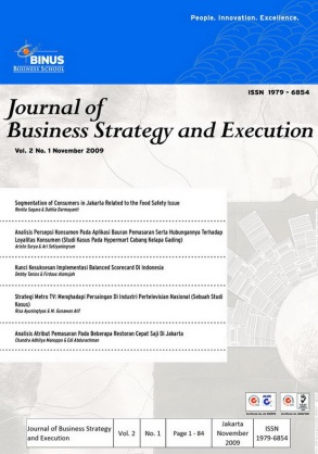Cover of Journal of Business Strategy and Execution