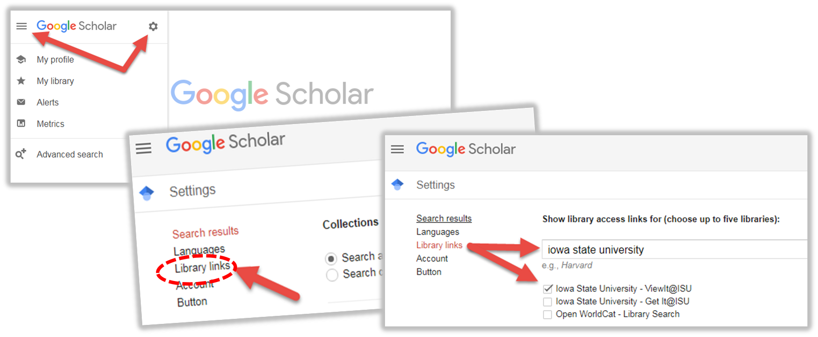 Google Scholar - Sync with ISU Library