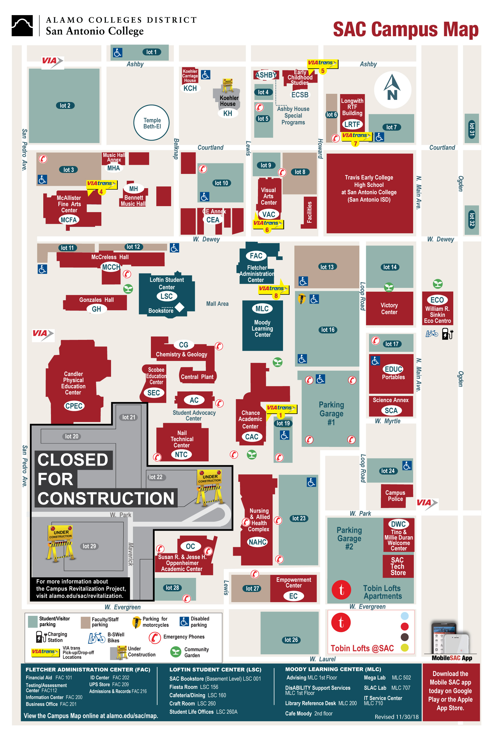 SAC Campus Map 2019