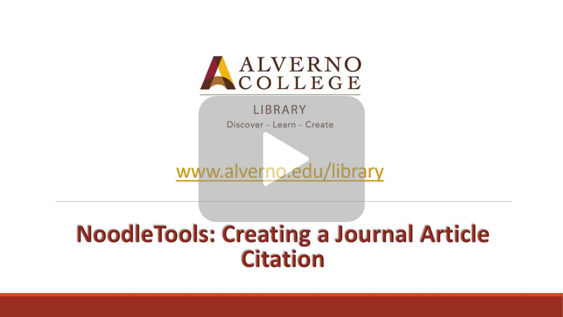 NoodleTools journal citation