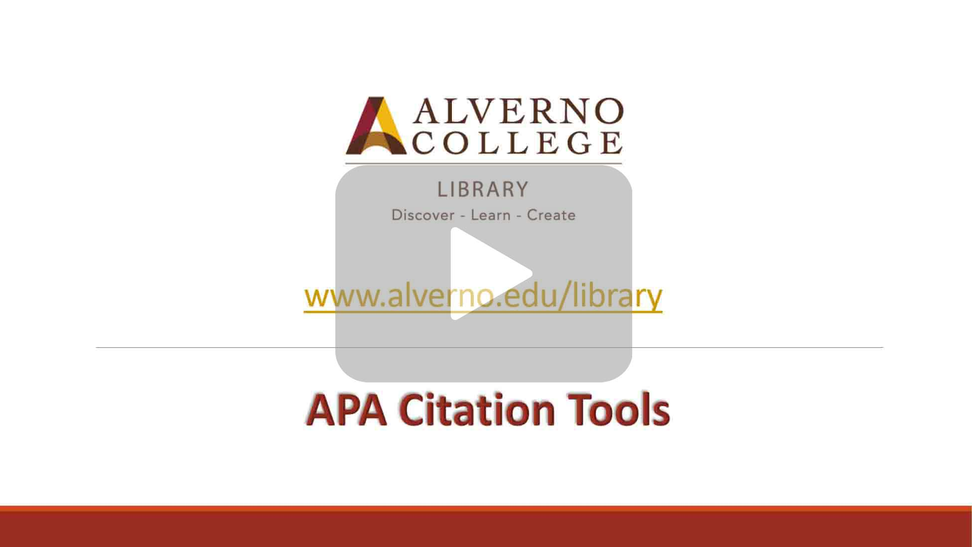 APA citation tools