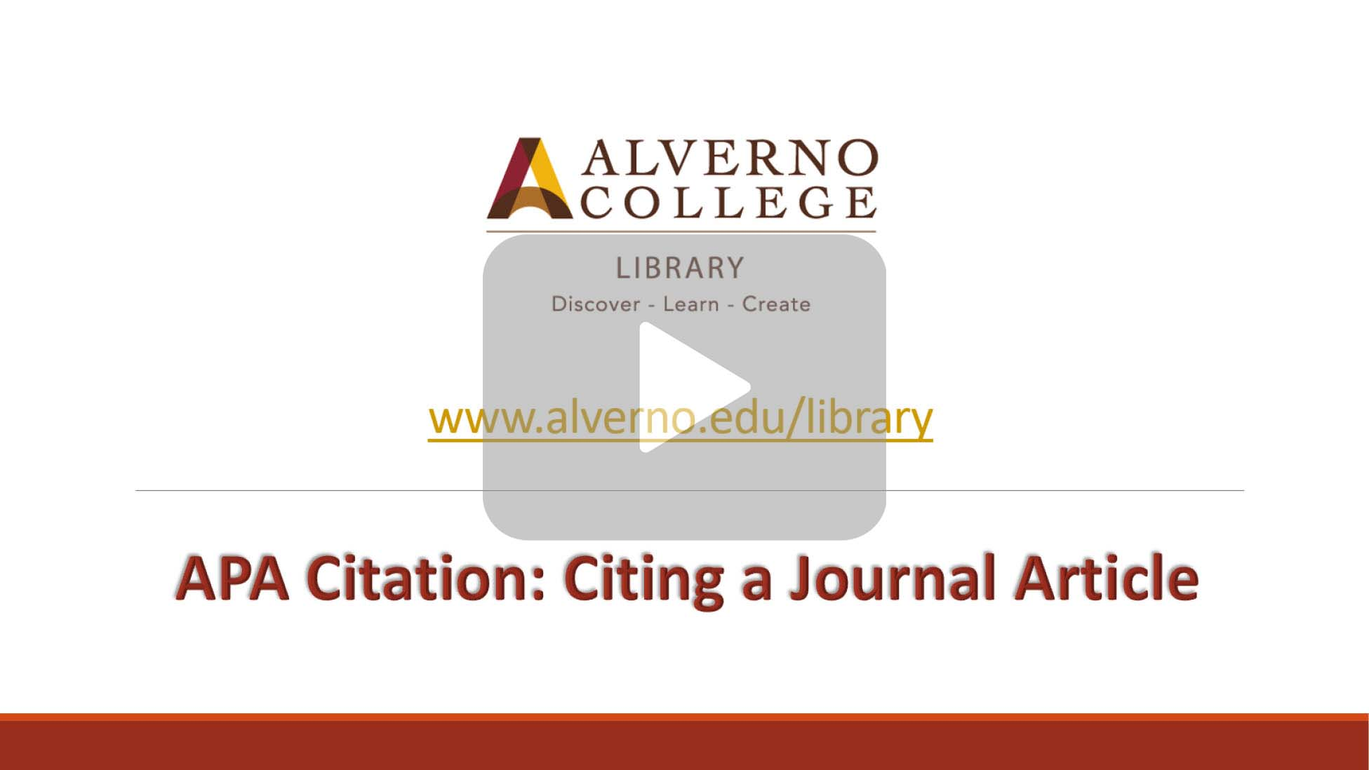 Citing a journal article