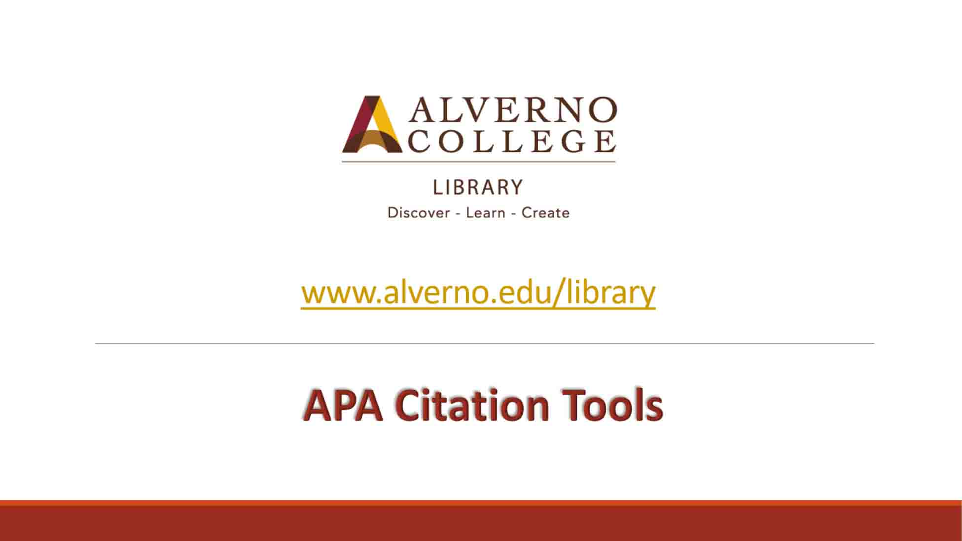 APA citation tools video