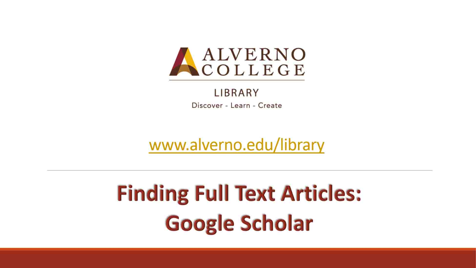 Finding full text Google Scholar video