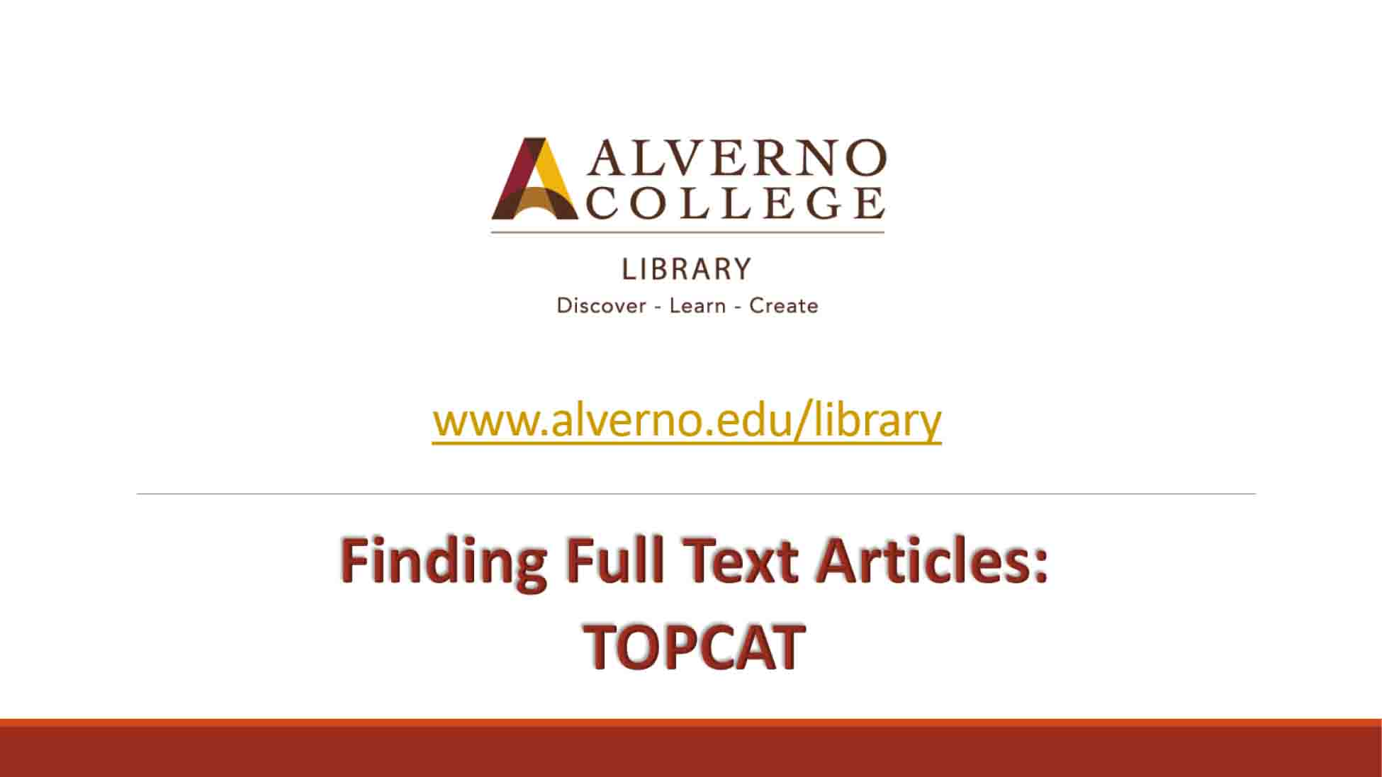 Finding full text TOPCAT video