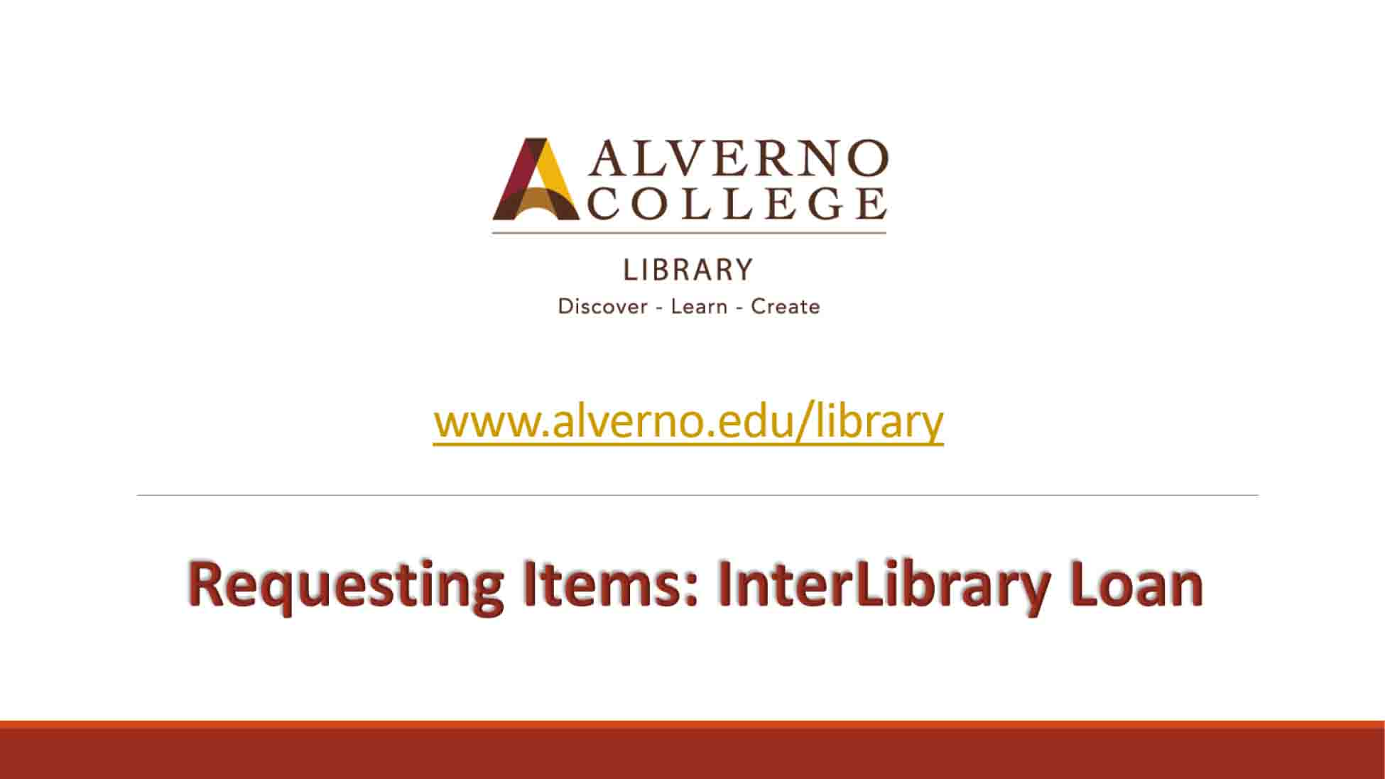 InterLibrary loan video