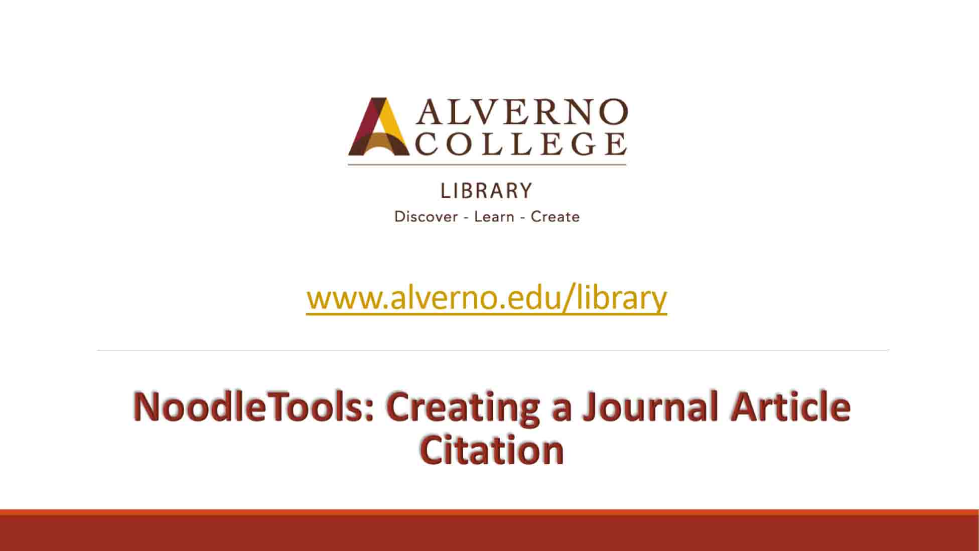 NoodleTools: Journal article citation video