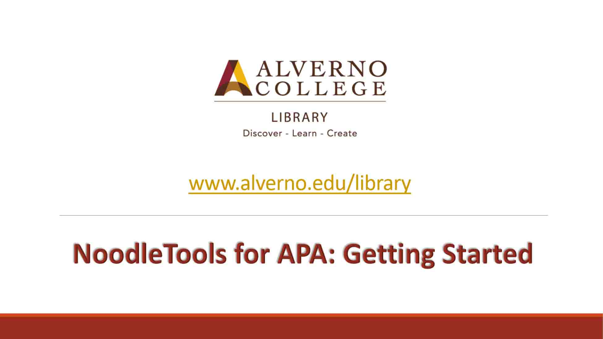 Noodle Tools for APA