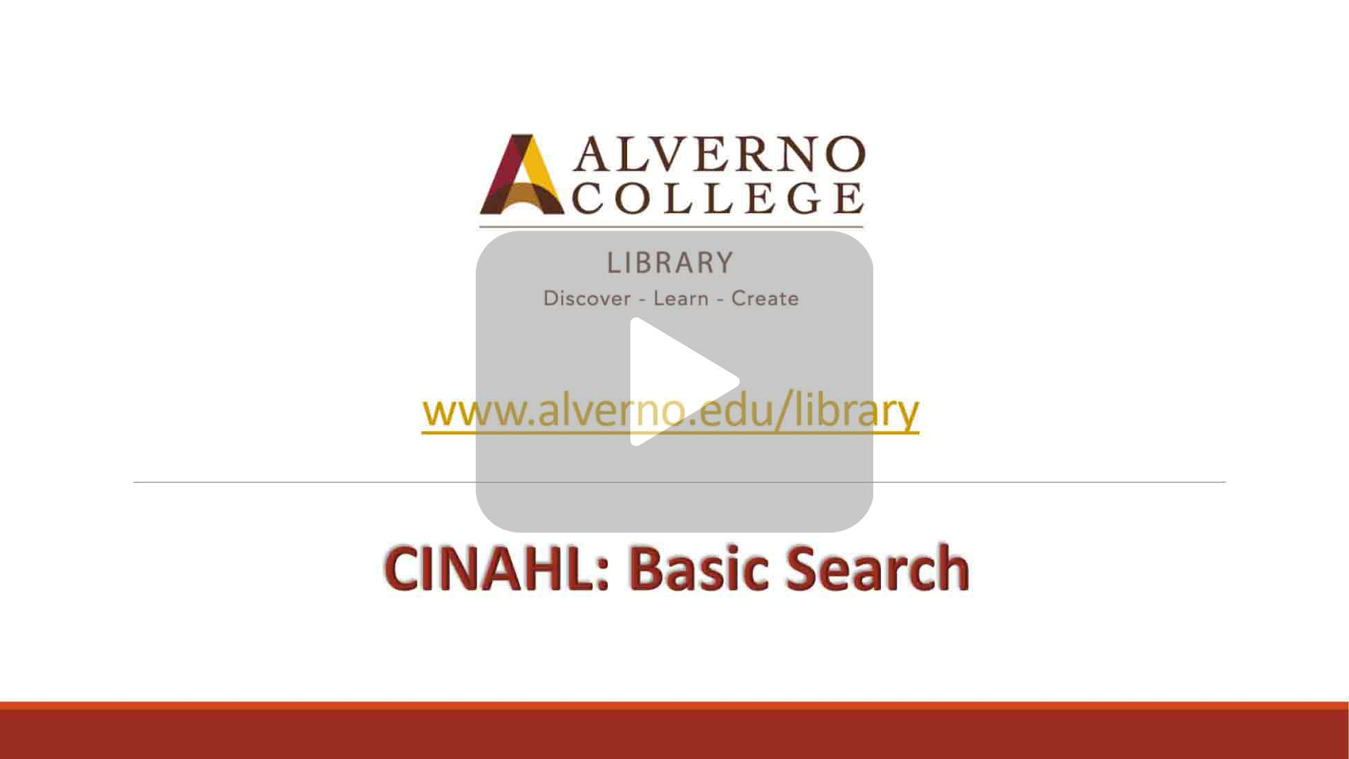Basic CINAHL search