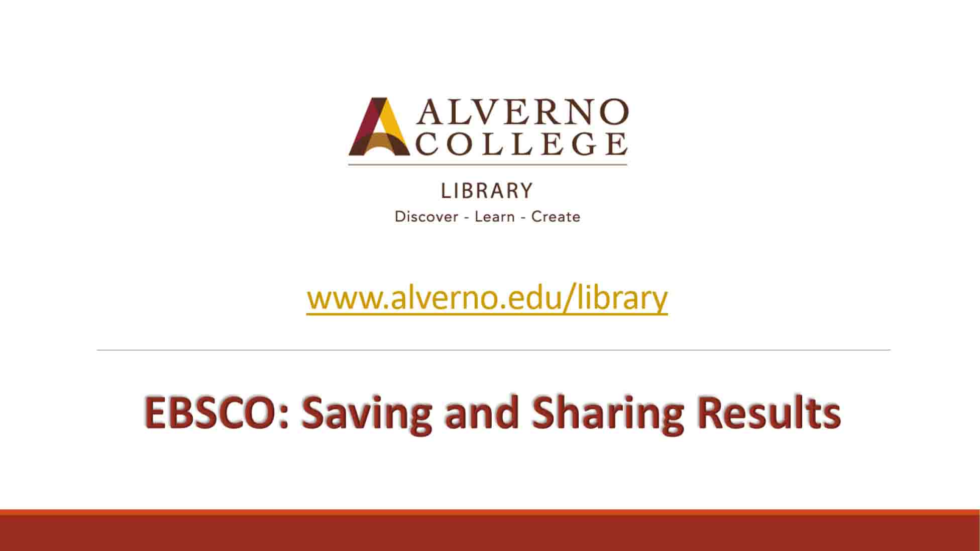 EBSCO saving and sharing video