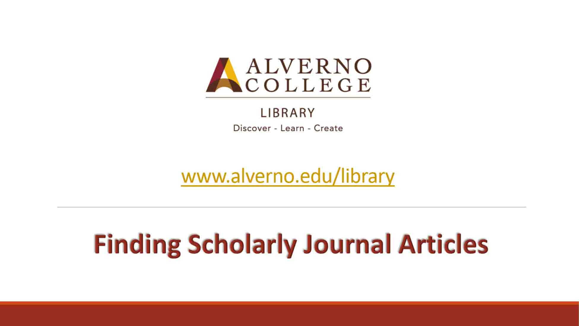 Finding scholarly journal articles video