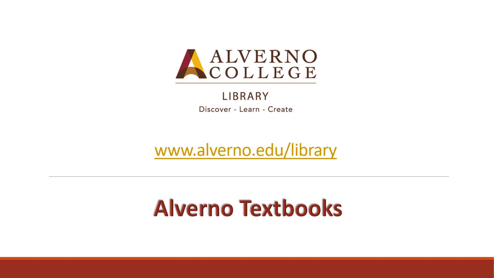Alverno Library textbooks video