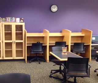 Study carrels in the library