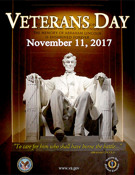Veterans Day November 11, 2017 Abraham Lincoln Statue Picture