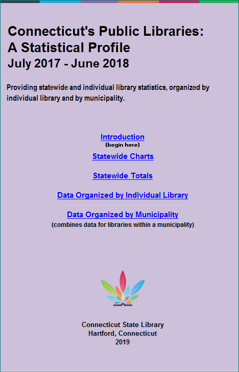 """Cover"" of Connecticut Public Libraries: A Statistical Profile"