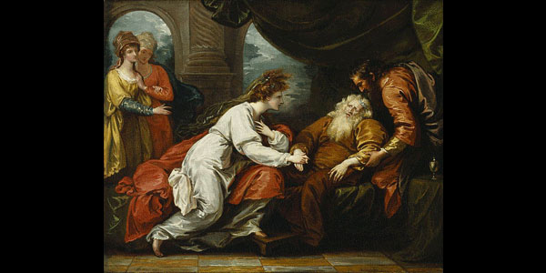 King Lear and Cordelia by Benjamin West [CC BY-SA 4.0]