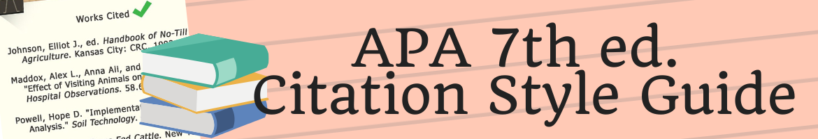 APA 7th ed. Citation Style Guide Header