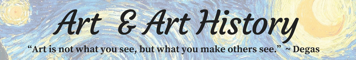 art and Art history header image