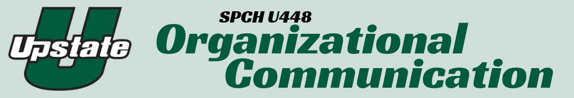 SPCH U448 Organizational Communication Header