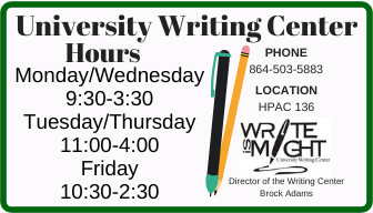 Writing Center Hours button