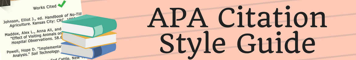 PAP citation Style guide header as button