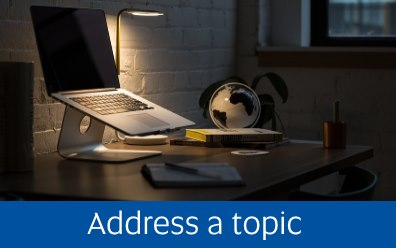 Address a topic <Image, public domain>