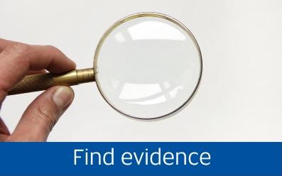 Navigate to the Find evidence page