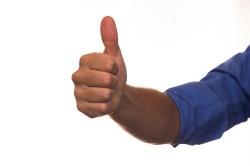 Thumbs up <image, public doman>