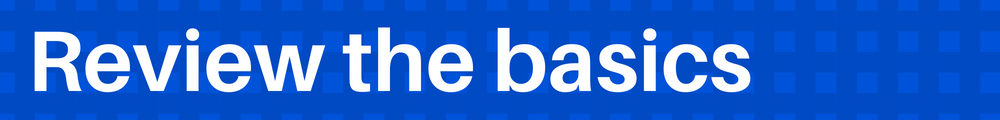 Review the basics- Blue basket weave  background