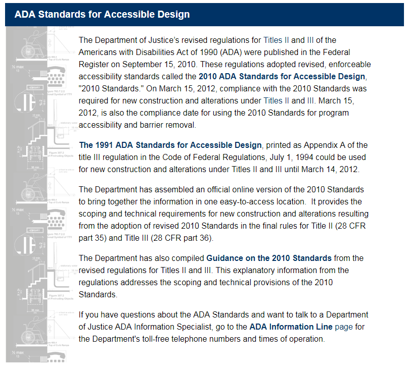 ADA Standards for Accessible Design