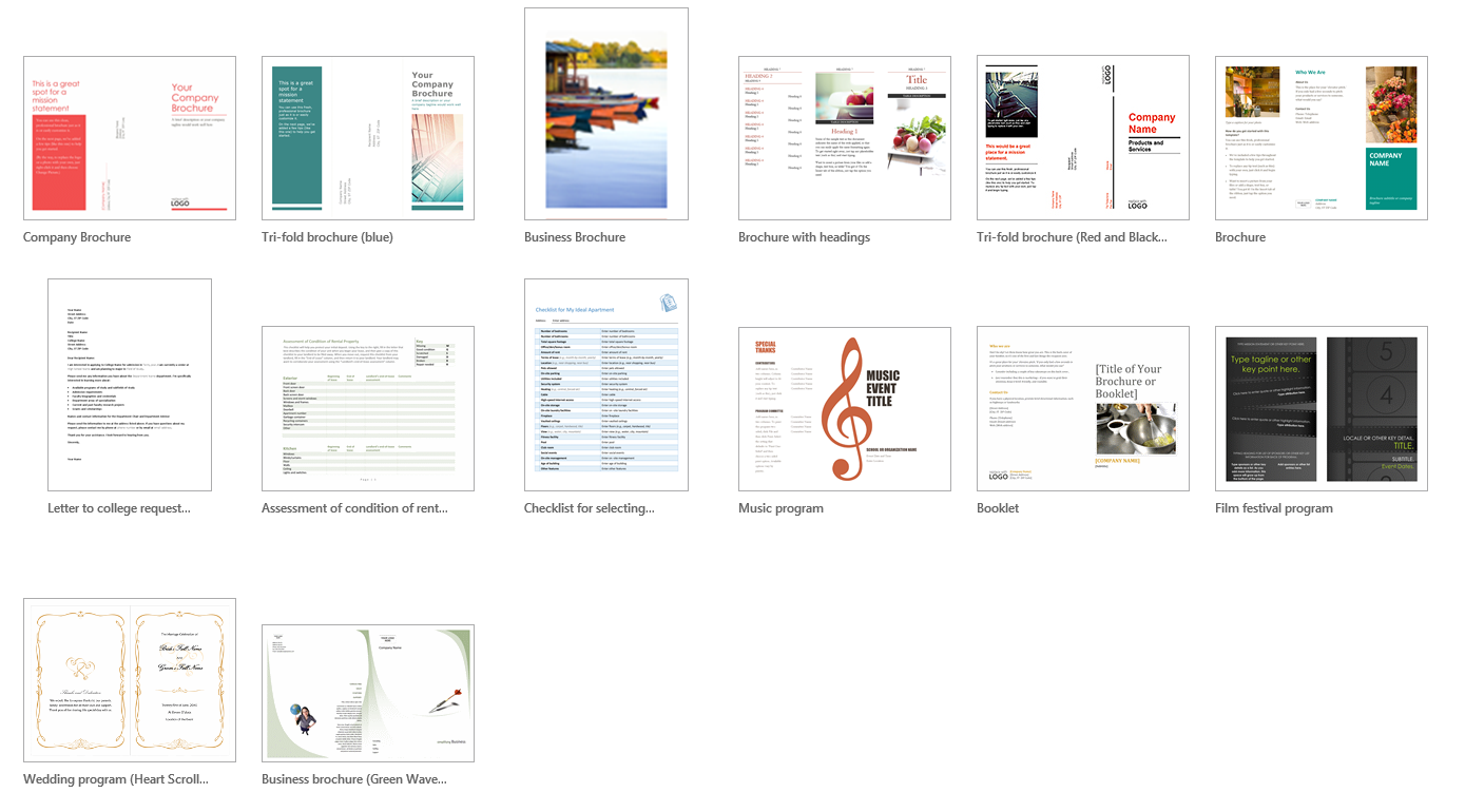Creating Brochures in Word
