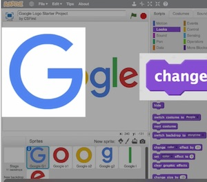 "snapshot of ""create Google logo"" interface"
