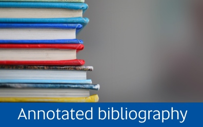 Navigate to the Annotated bibliography page