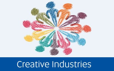 Navigate to information on creative industries. Image source Pixabay CC Licence: CC0