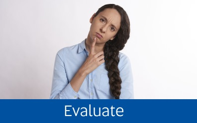 Navigate to Evaluate page